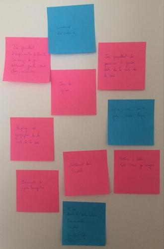 Phase 1 : Des post-it en vrac