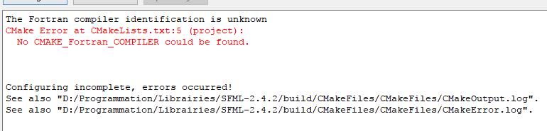 Problème lors de l'installation de SFML  par VinceDlyt