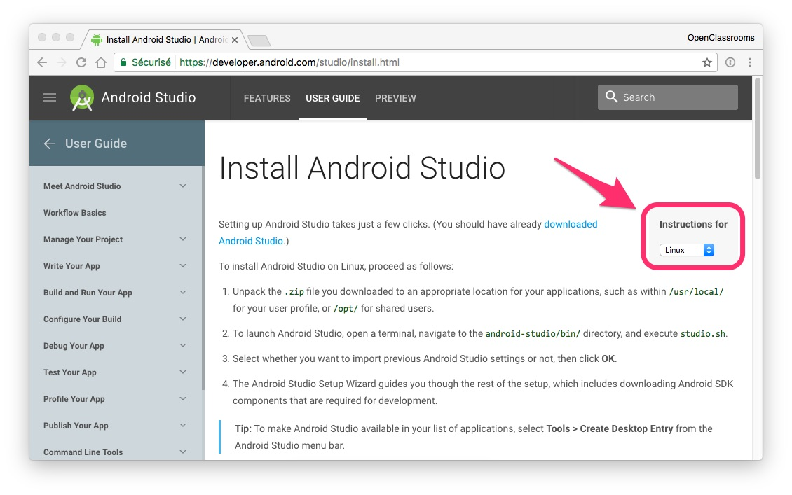 Install Android Studio - Develop Your First Android Application
