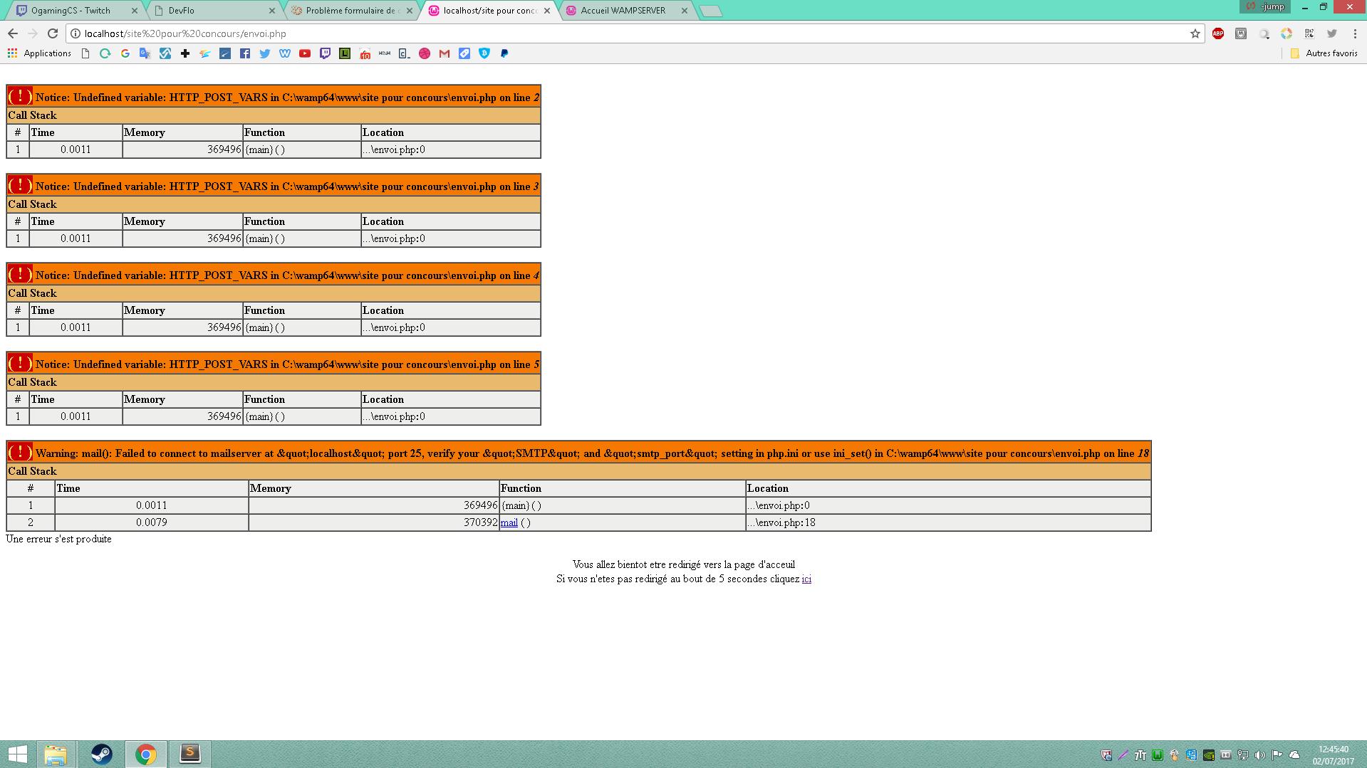 Probl me formulaire de contact par florianmauberger - Formulaire de contact ...