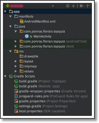 Create Your First Project - Develop Your First Android