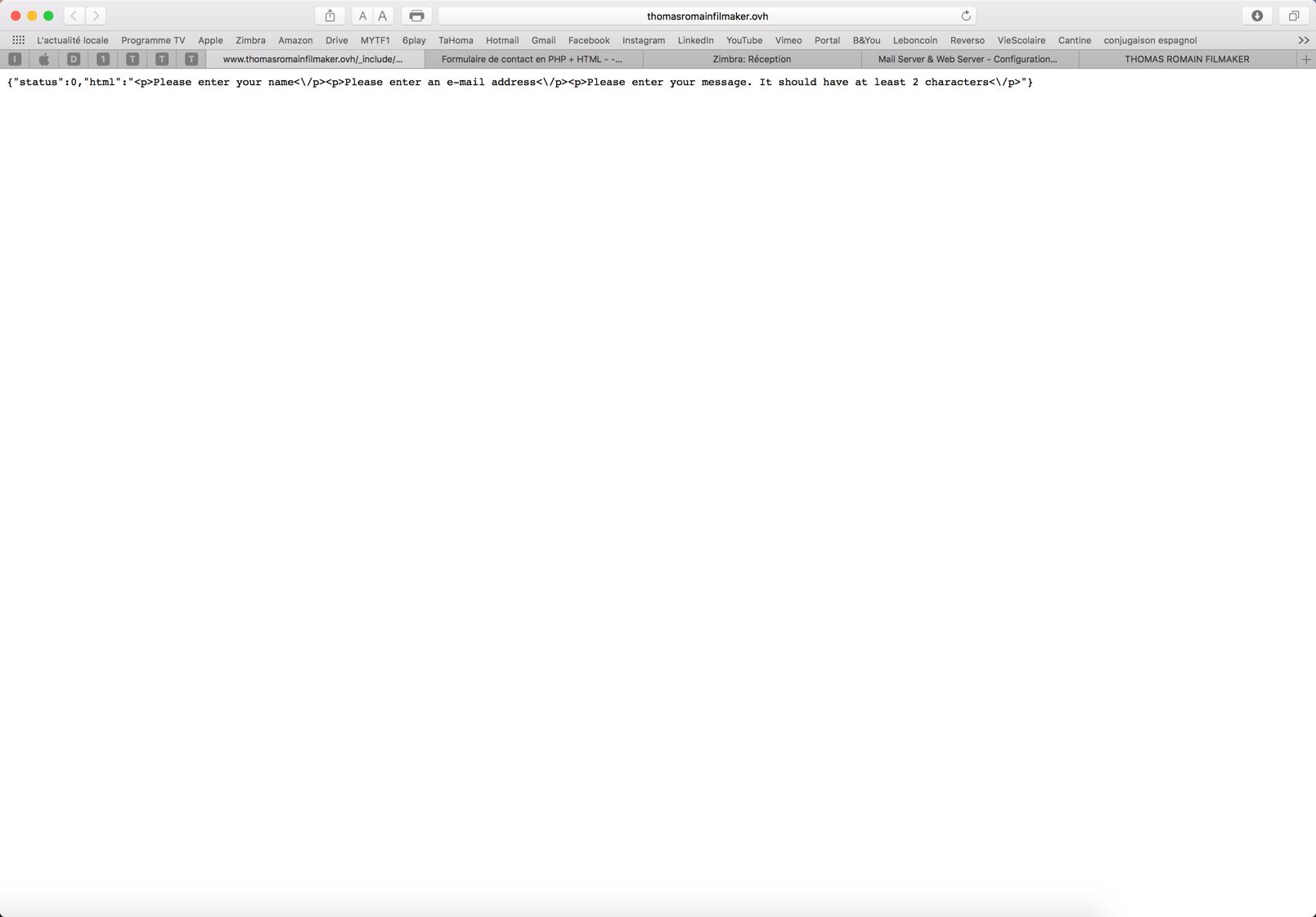 Formulaire de contact en php html erreur 404 - Formulaire de contact ...