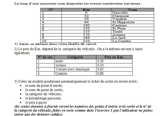 Création d\'un modèle Excel (exercice) - Besoin d\'aide en excel ...