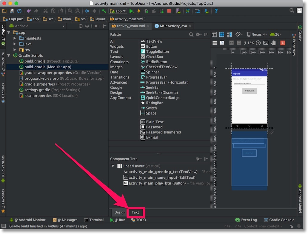 Design Your First Screen - Develop Your First Android Application