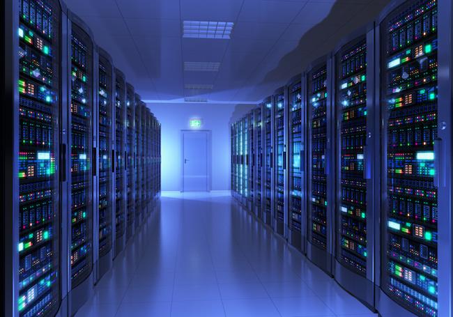 Un datacenter, où sont stockés les serveurs