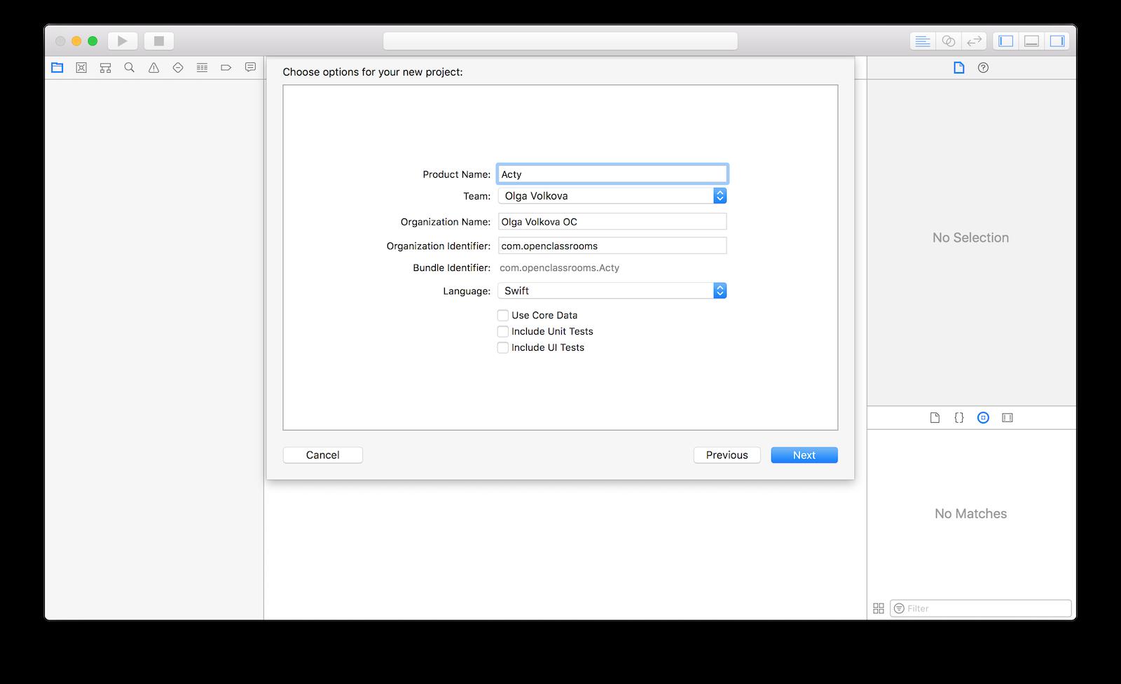 App configuration