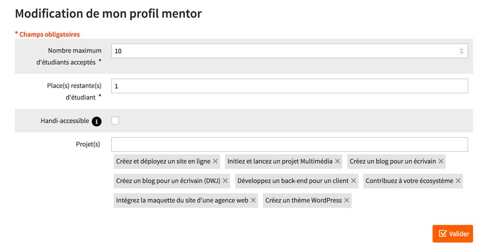Modifiez votre profil : vous pouvez maintenant accepter plusieurs étudiants à la fois !