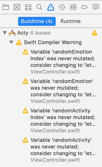 Xcode Issue Navigator