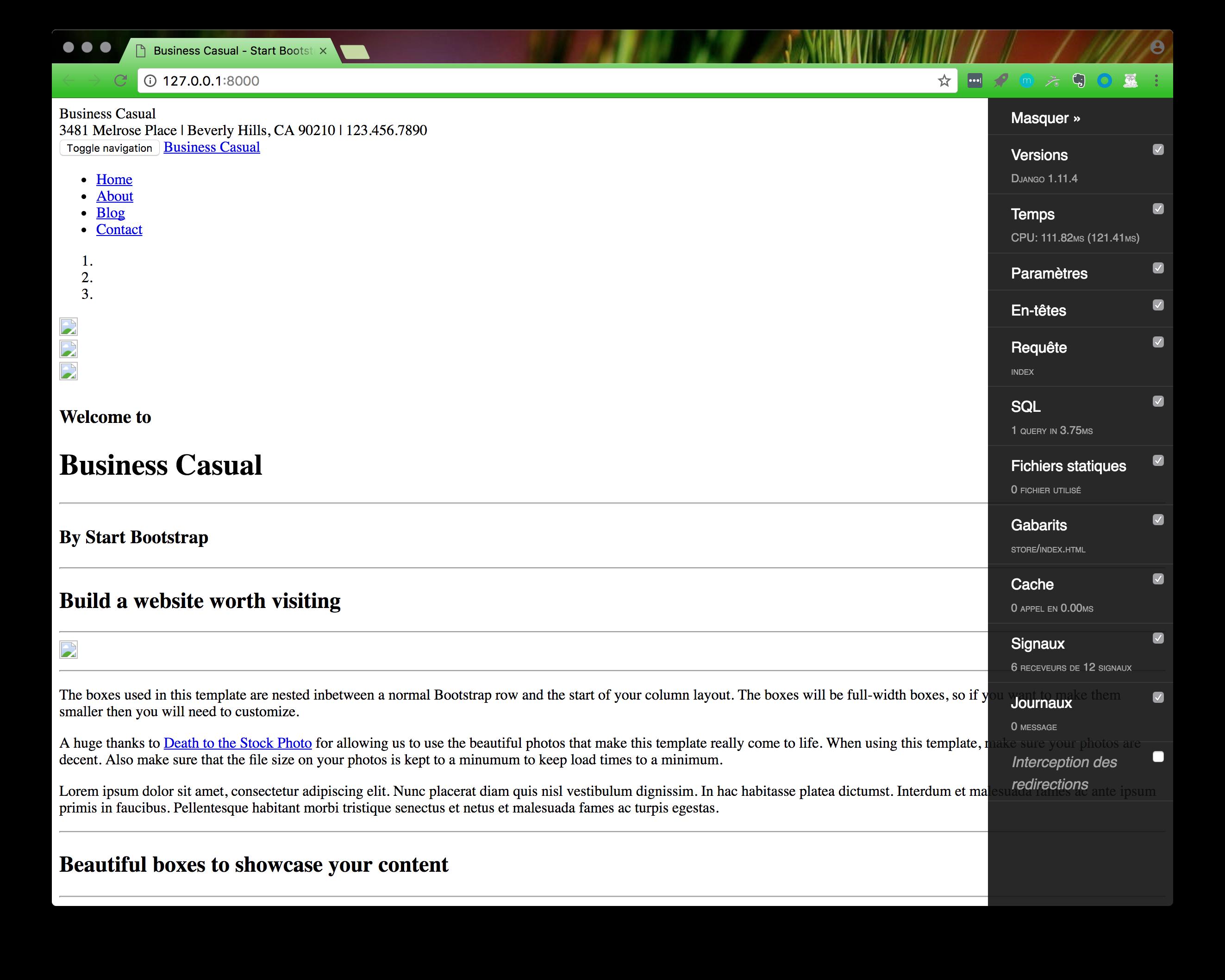 Ajoutez des fichiers statiques d couvrez le framework for Django template comment