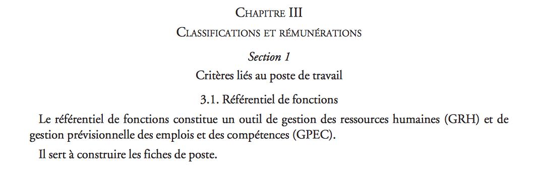 La fiche de poste en lien avec les classifications de fonctions -journal-officiel.gouv.fr