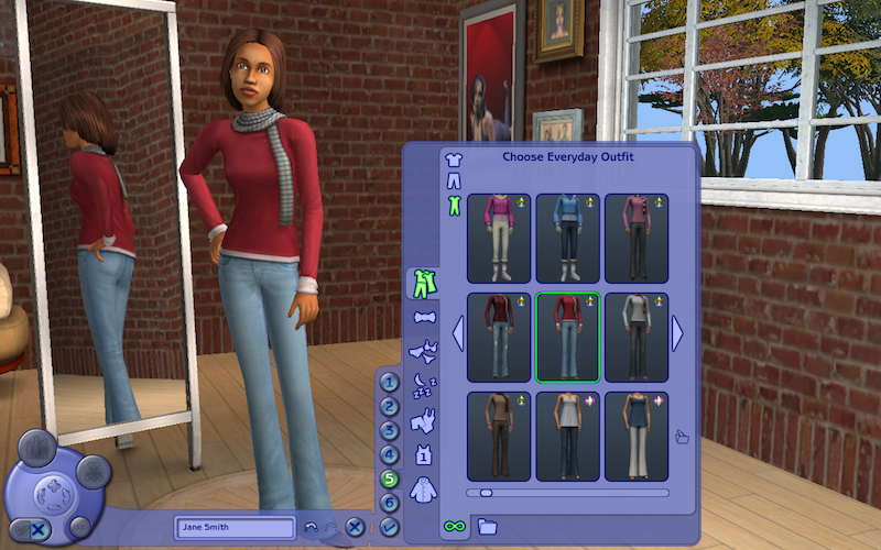 Creating people in the Sims video game