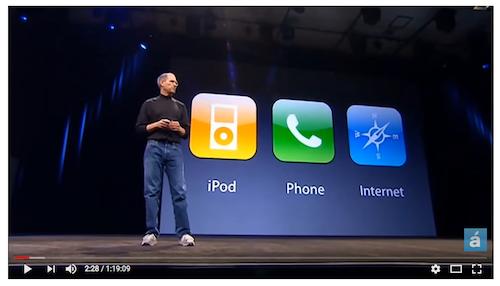 Keynote Apple pour l'annonce de l'Iphone