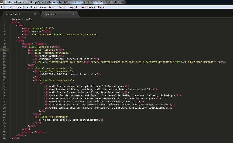 probl u00e8me activit u00e9 html