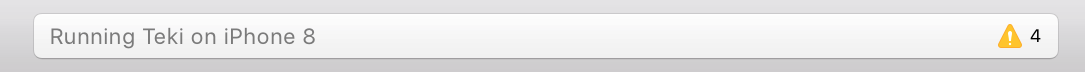 À droite, Xcode indique le nombre d'erreurs dans tout le projet