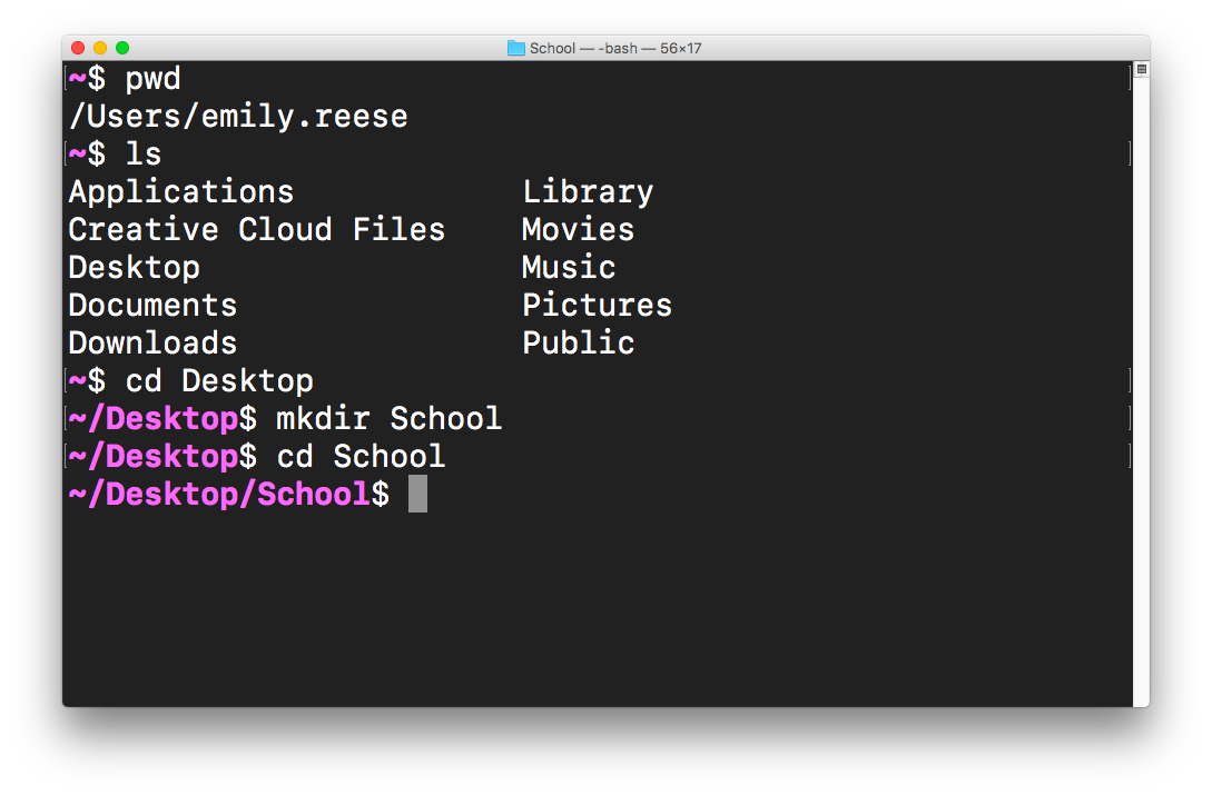 Create your first directory - Learn the Command Line in