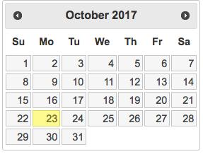 Un développeur a créé un sélecteur de date