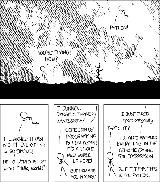 La puissance de Python selon XKCD