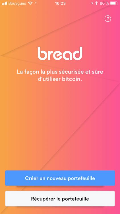 Accueil de breadwallet