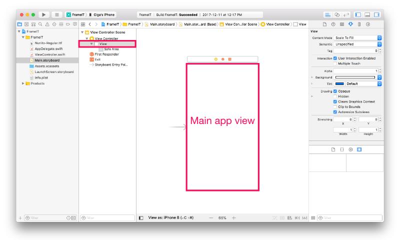 Main app view