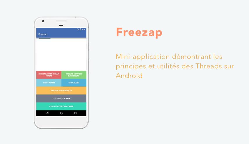 Notre mini-application Freezap