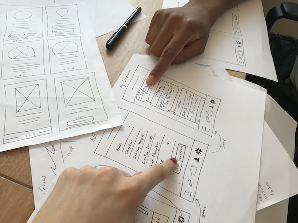 Usability testing can start as early as when you have wireframe sketches.