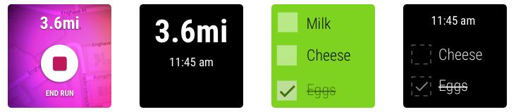 Deux exemples d'applications en modes ambients vs interactifs