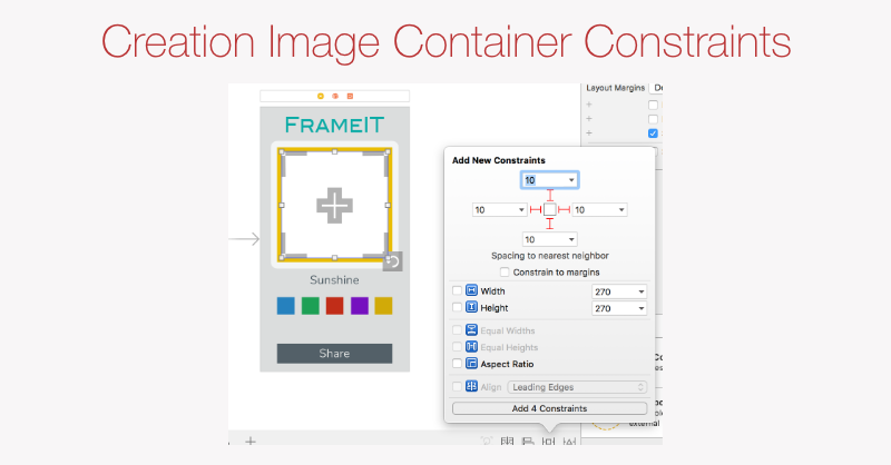 Creation Image Container constraints