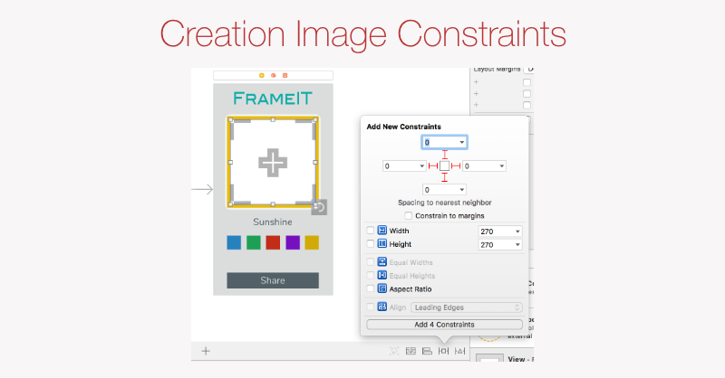 Creation Image constraints