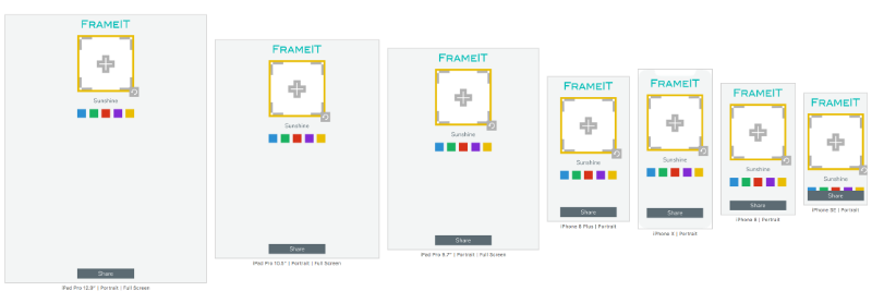 FrameIT desired portrait layout