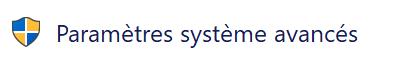 Paramètres système avancés dans le panneau de configuration Windows