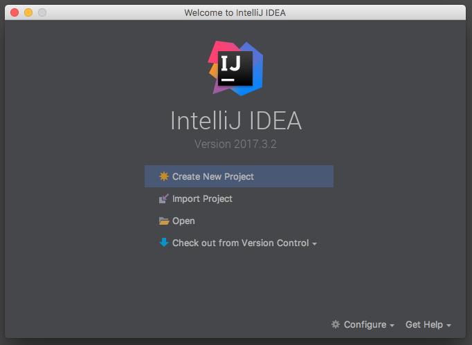 Création d'un nouveau projet sur IntelliJ