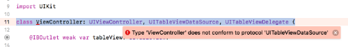 Xcode's not happy:(