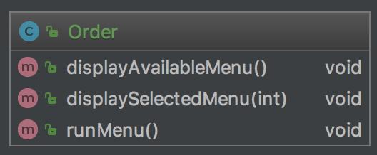 Diagramme de classes UML avec runMenu via IntelliJ Ultimate