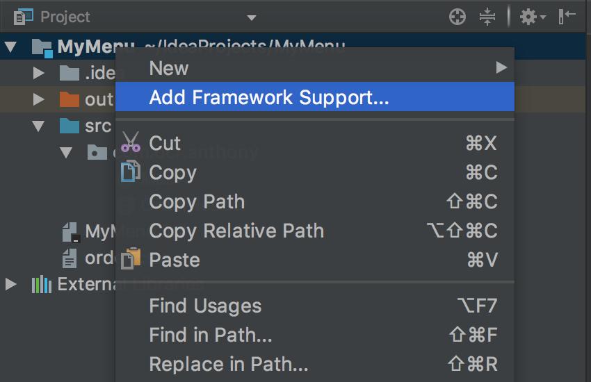 Ajouter un framework