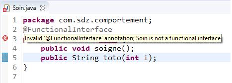Problème dans l'interface fonctionnelle