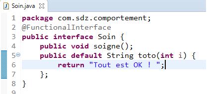 Méthode par défaut dans une interface fonctionnelle
