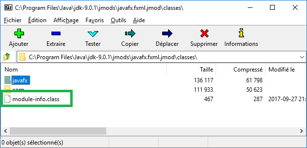 Fichier module-info.class