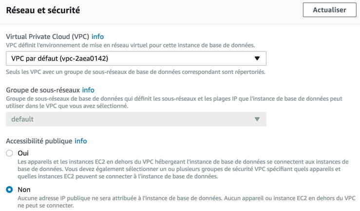 Configuration du VPC