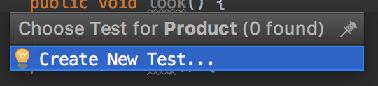 Créer un nouveau test