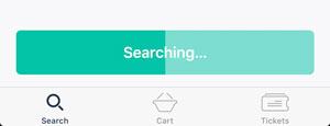 A search bar fills as your request gets closer to completion.