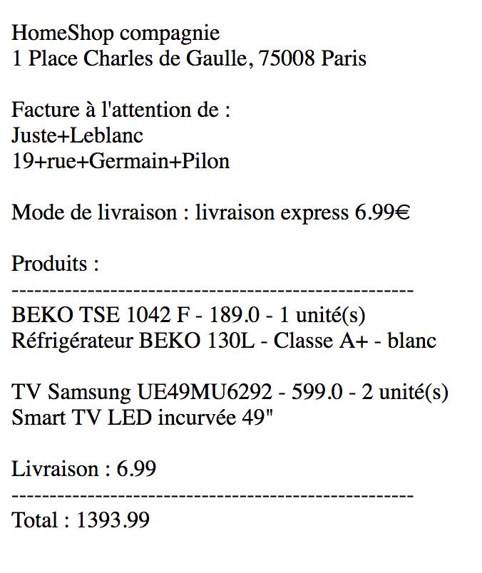 Facture web Leblanc