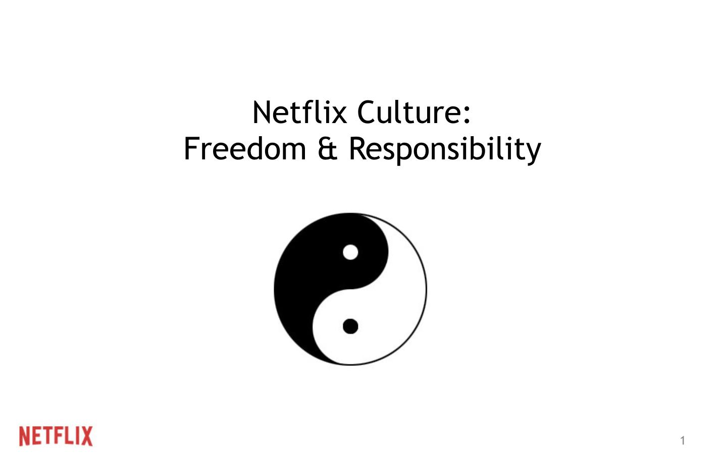 Netflix Culture Book