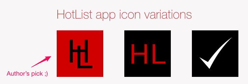 App icon experiments