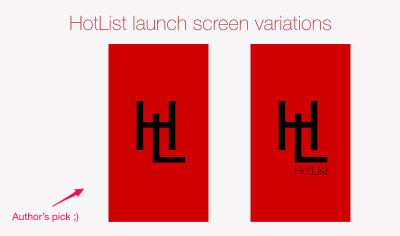 Launch screen design experiments