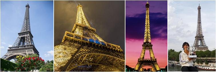Plusieurs photos de la Tour Eiffel