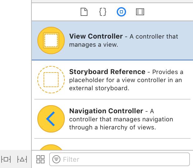 ViewController dans la bibliothèque des composants