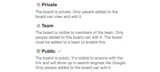 Trello's Privacy Settings