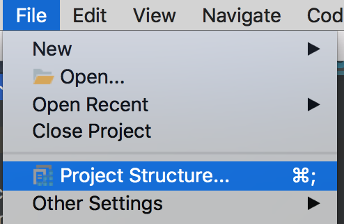File > Project Structure...