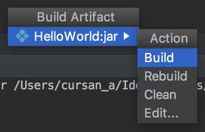 HelloWorld:jar >Build