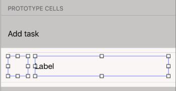 Task cell UI